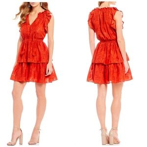 Chelsea & Violet | Embroidered Tiered Ruffle Dress